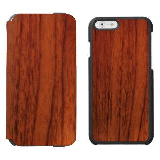 Copie en bois d'acajou coque-portefeuille iPhone 6 incipio watson™