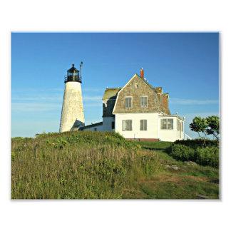 Copie en bois de photo du Maine de phare d'île