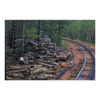 Copie en bois maximale de photo de pile de