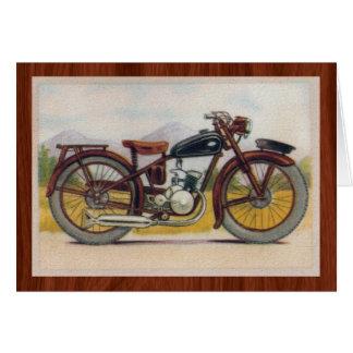 Copie en bronze vintage de moto cartes de vœux