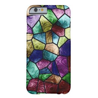 Copie en verre de tache colorée de mosaïque coque iPhone 6 barely there