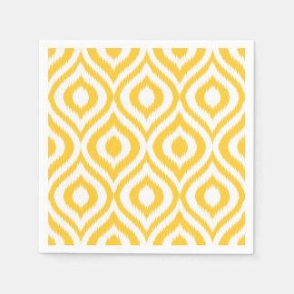 Copie ethnique géométrique classique jaune d'Ikat Serviette Jetable