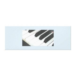 Copie étirée de clés de piano de toile