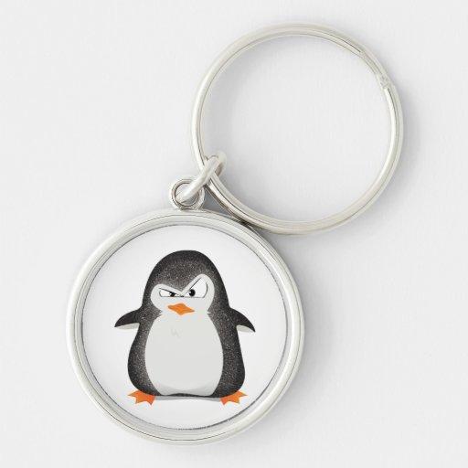 Copie fâchée de photo de scintillement de pingouin porte-clefs
