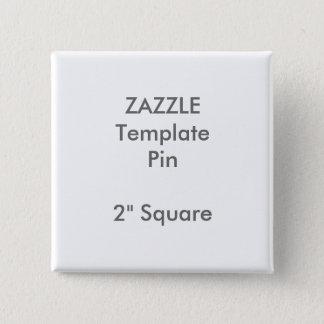 """Copie faite sur commande 2"""" modèle vide carré de pin's"""