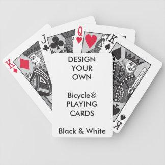 Copie faite sur commande cartes NOIRES et BLANCHES Jeux De Cartes