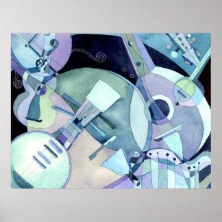 Copie ficelée d'instruments de musique posters
