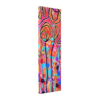 Copie florale abstraite lumineuse 12x36 de toile