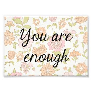 Copie florale de citation, citation inspirée impression photo