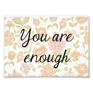 Copie florale de citation, citation inspirée  tirage photo
