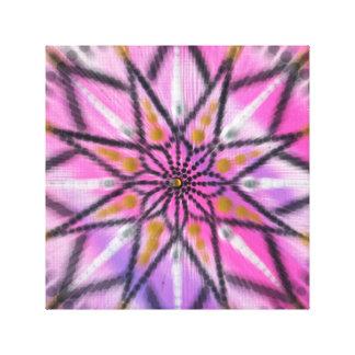 Copie florale de toile de mandala de Starburst de
