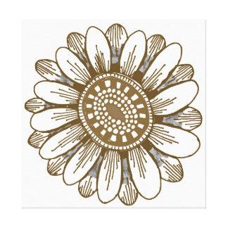 copie florale de toile - rétro impressions sur toile