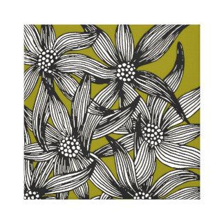 copie florale de toile - rétro toiles tendues sur châssis
