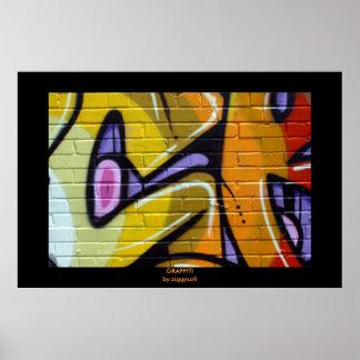 copie géniale d'affiche de graffiti posters