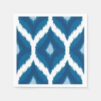 Copie géométrique ethnique moderne d'Ikat de bleu Serviettes En Papier
