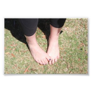 Copie gracieuse de photo de pieds de soleil