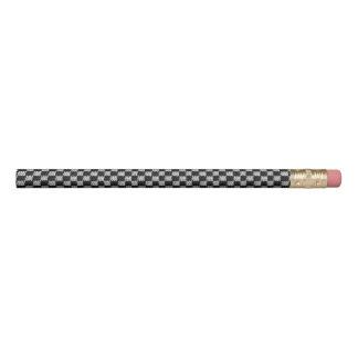 Copie grise noire de crochet de carrés d'échiquier crayon