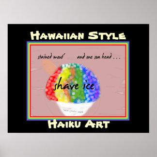 Copie hawaïenne d'art de Haiku de style de glace Posters