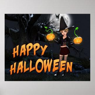 Copie heureuse de Halloween Skye Posters