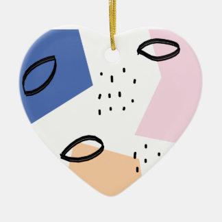Copie inspirée par géométrie colorée moderne ornement cœur en céramique