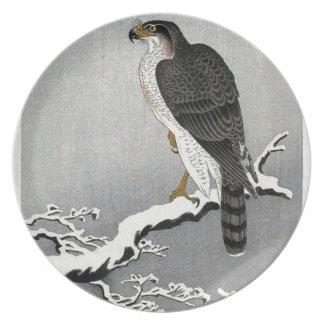 Copie japonaise vintage d'oiseau assiette