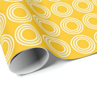 Copie jaune citron papier cadeau noël
