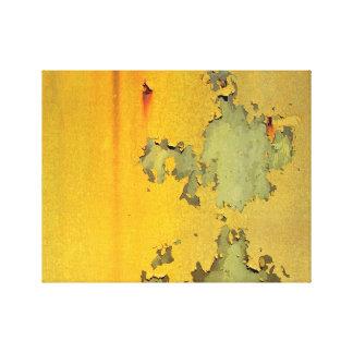 Copie jaune grunge de toile