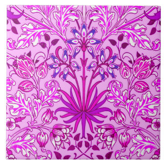Copie, lavande et violette de jacinthe de William Grand Carreau Carré
