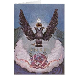 Copie maçonnique vintage cartes