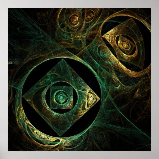 Copie magique d'art abstrait de vibrations posters