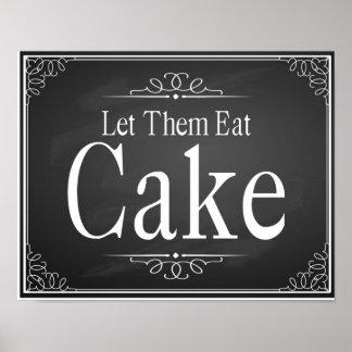 Copie manger gâteau de noce de tableau poster