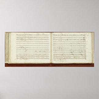 Copie manuscrite 'du Flute magique Posters