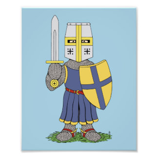 Copie médiévale mignonne de chevalier photo sur toile