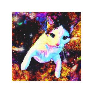 Copie mignonne colorée de toile de disco de Kitty