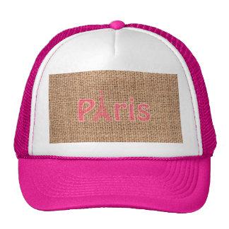 Copie mignonne de Tour Eiffel de Paris de rose de  Casquette