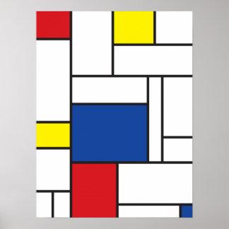 Copie minimaliste d'affiche d'art de mur de Mondri