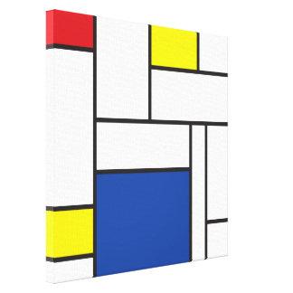 Copie minimaliste de toile d'art de Mondrian de