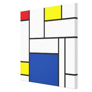 Copie minimaliste de toile d'art de Mondrian de St Toiles Tendues