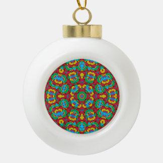 Copie multicolore géométrique boule en céramique