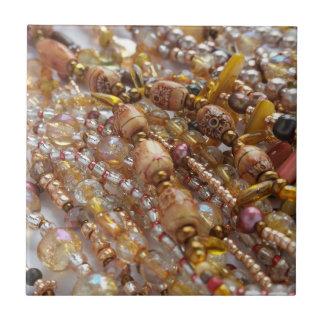Copie naturelle de perle de tons de la terre de carreau