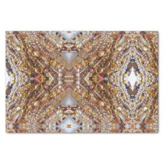Copie naturelle de perles de tons de la terre de papier mousseline