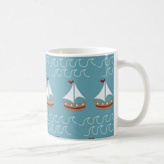Copie nautique de bateau à voile mug