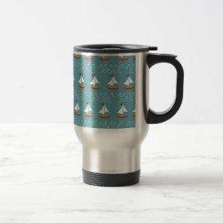 Copie nautique de bateau à voile mug de voyage