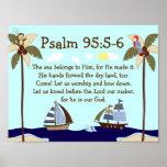 Copie nautique de mur de vers de bible de bateaux  posters