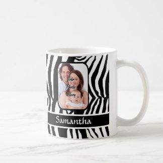 Copie noire et blanche de zèbre mug