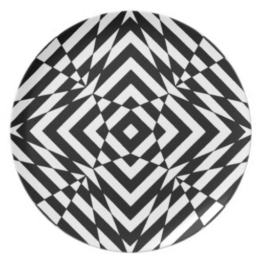 copie noire et blanche graphique d 39 illusion optiqu. Black Bedroom Furniture Sets. Home Design Ideas
