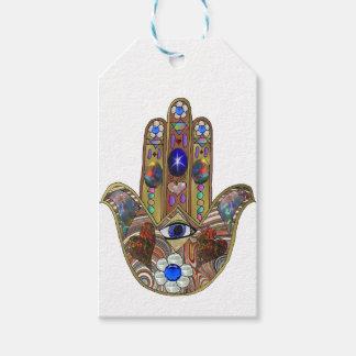 Copie opale d'art de fleurs de coeurs de Judaica Étiquettes-cadeau