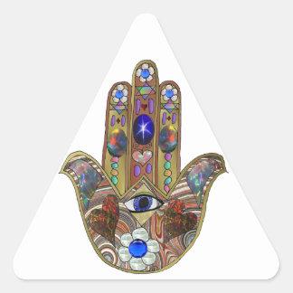 Copie opale d'art de fleurs de coeurs de Judaica Sticker Triangulaire