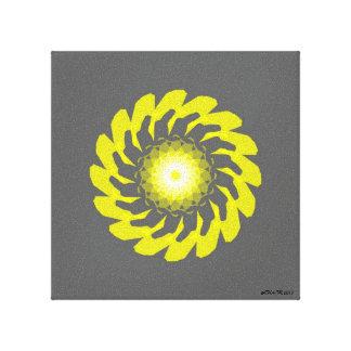 Copie originale de toile de fleur jaune