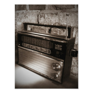 Copie par radio vintage impressionnante photo d'art